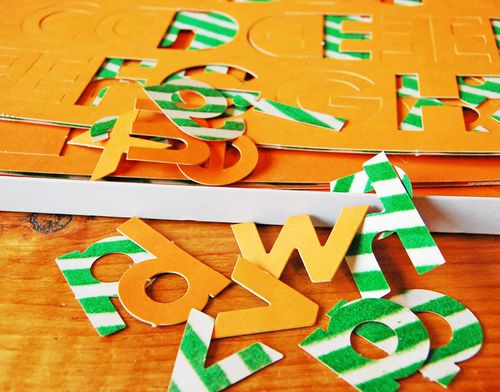 Flocked-letters-orange