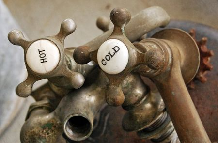 Brass-hot-cold-faucets